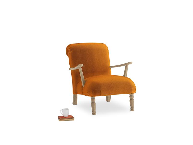 Brew Armchair in Spiced Orange clever velvet