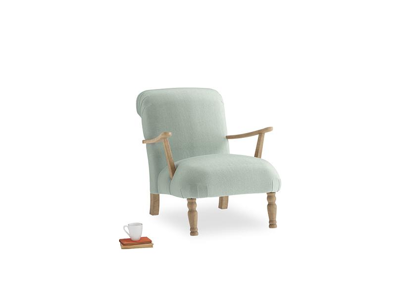 Brew Armchair in Mint clever velvet
