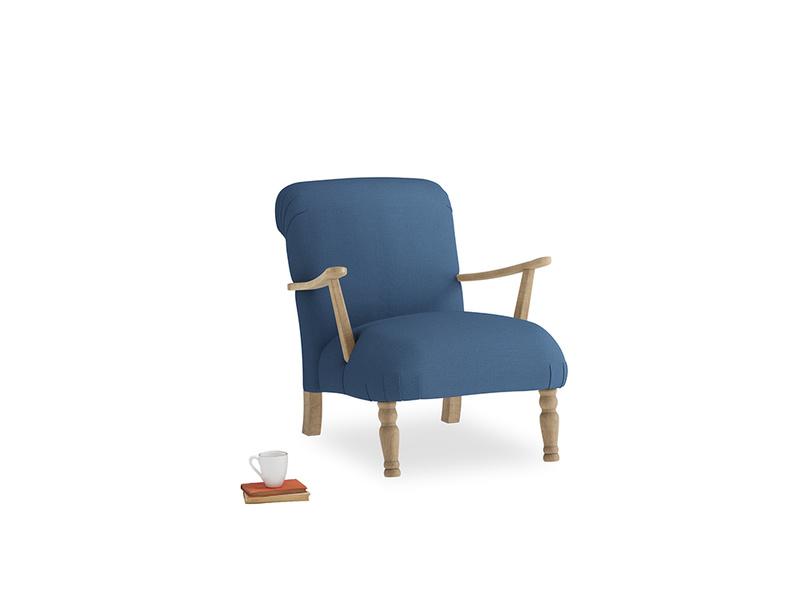 Brew Armchair in True blue Clever Linen