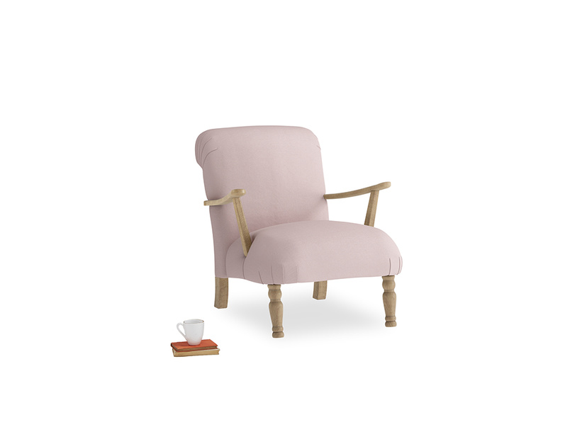 Brew Armchair in Potter's pink Clever Linen