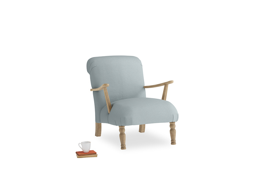 Brew Armchair in Quail's egg clever linen