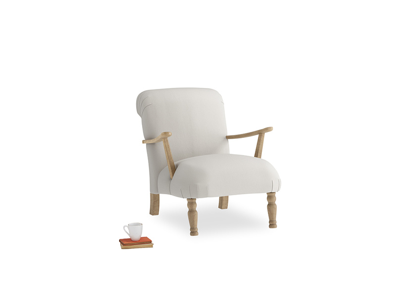 Brew Armchair in Moondust grey clever cotton