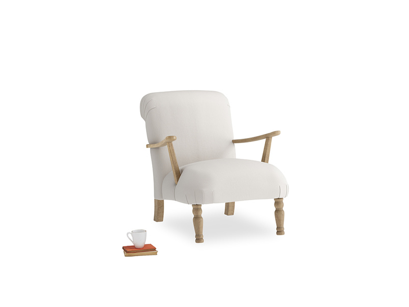 Brew Armchair in Chalk clever cotton