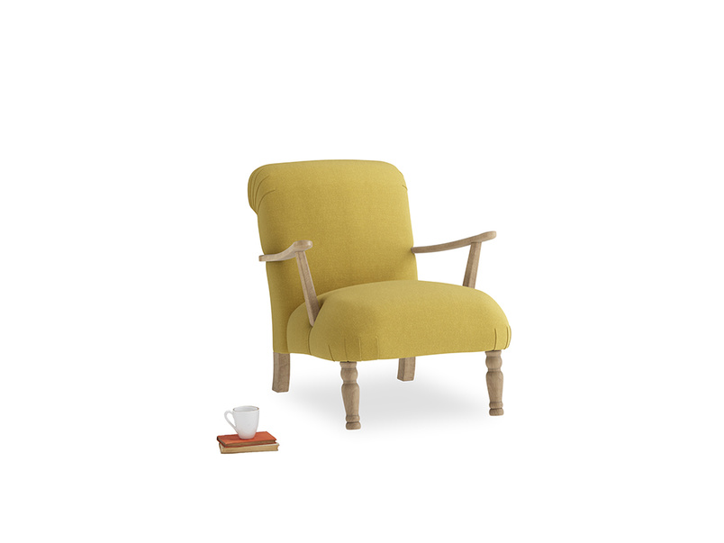 Brew Armchair in Maize yellow Brushed Cotton