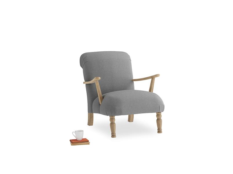 Brew Armchair in Gun Metal brushed cotton