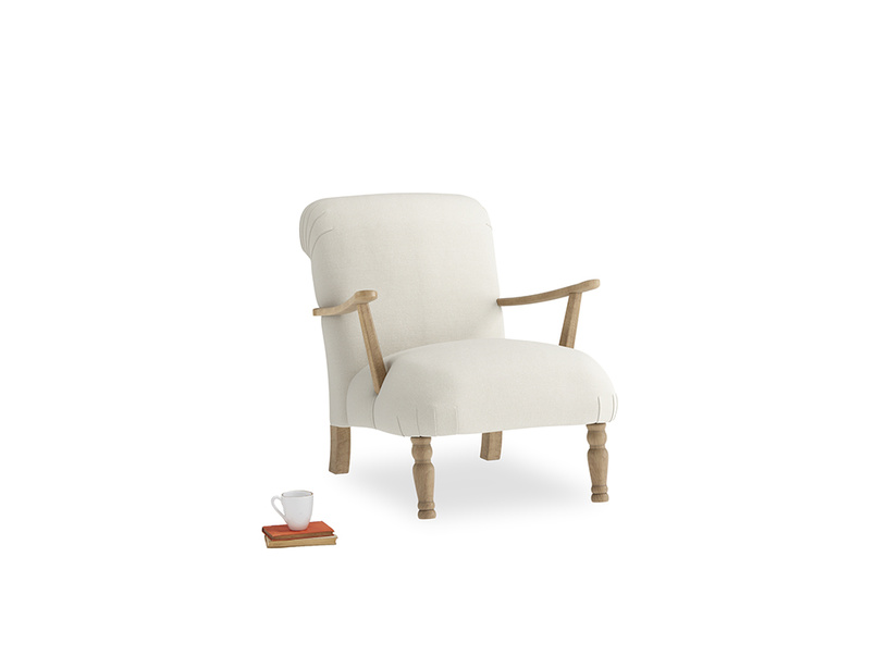 Brew Armchair in Oat brushed cotton