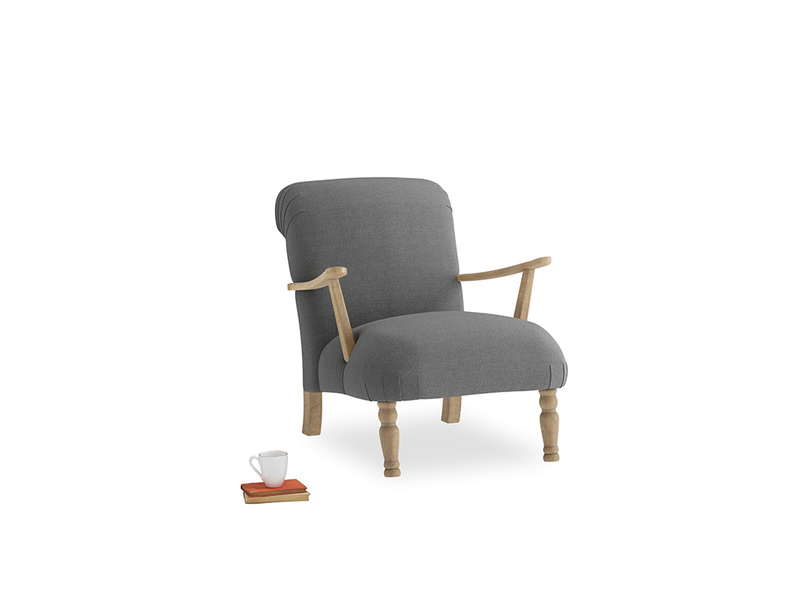 Brew Armchair in Ash washed cotton linen