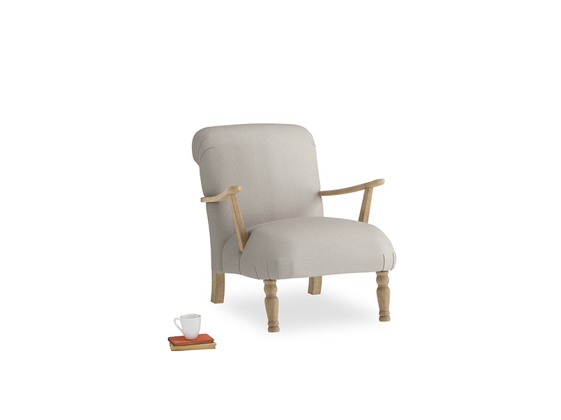 Brew Armchair in Sailcloth grey Clever Woolly Fabric
