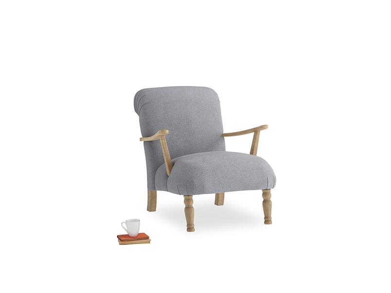 Brew Armchair in Dove grey wool