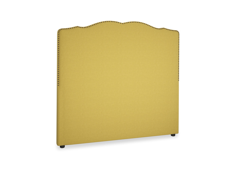 Double Marie Headboard in Maize yellow Brushed Cotton