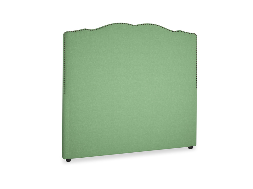 Double Marie Headboard in Clean green Brushed Cotton