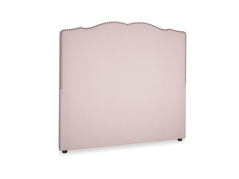 Double Marie Headboard in Potter's pink Clever Linen