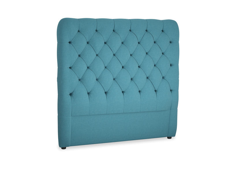 Double Tall Billow Headboard in Lido Brushed Cotton