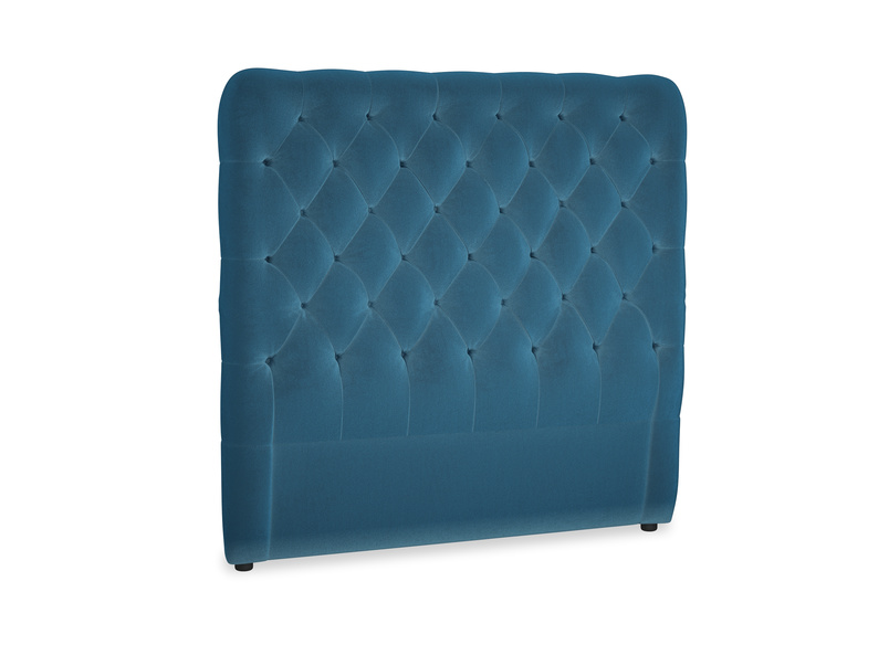 Double Tall Billow Headboard in Twilight blue Clever Deep Velvet
