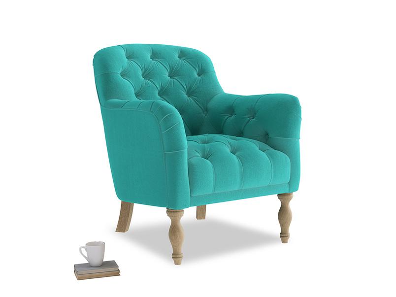 Reader Armchair in Fiji Clever Velvet