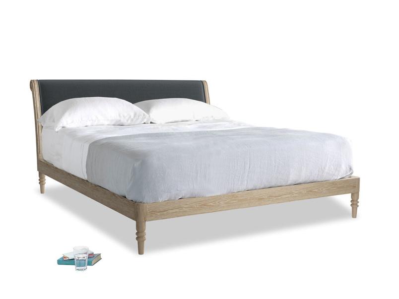 Superking Darcy Bed in Dark grey Clever Deep Velvet