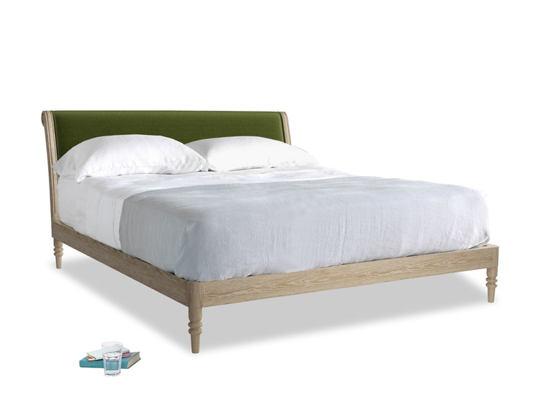 Superking Darcy Bed in Good green Clever Deep Velvet