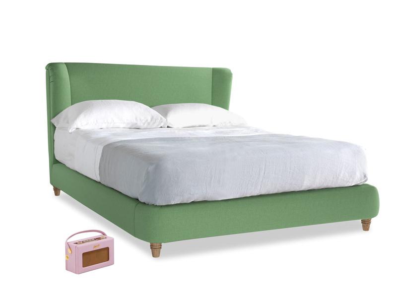 Kingsize Hugger Bed in Clean green Brushed Cotton