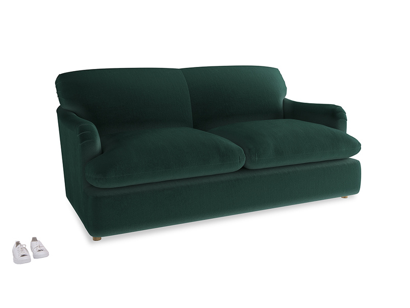 Medium Pudding Sofa Bed in Dark green Clever Velvet