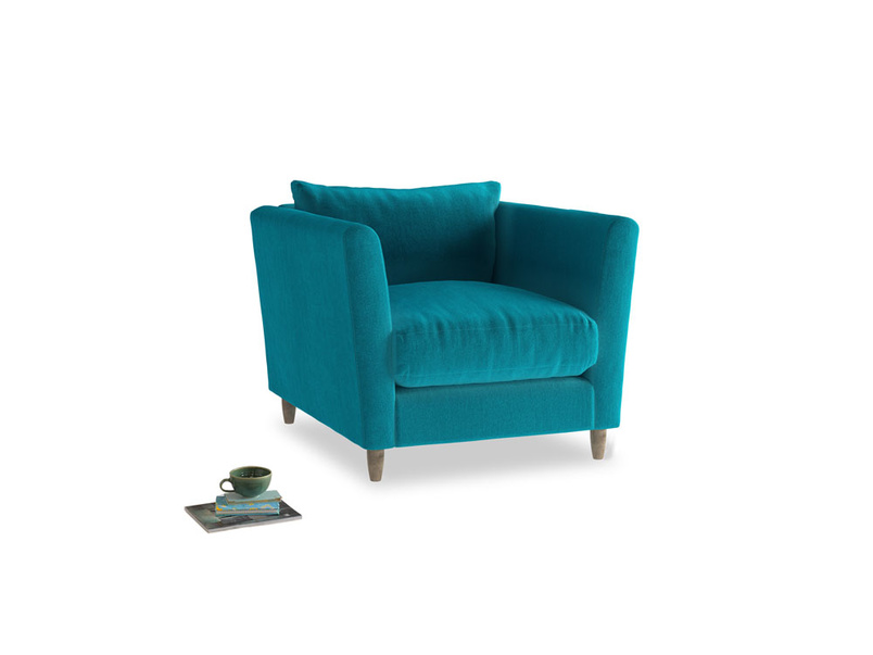 Flopster Armchair in Pacific Clever Velvet