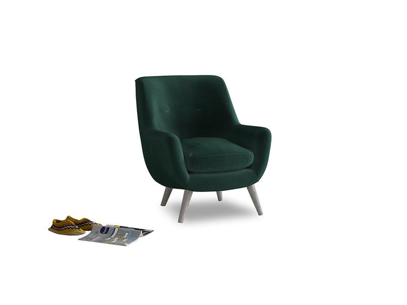 Berlin Armchair in Dark green Clever Velvet