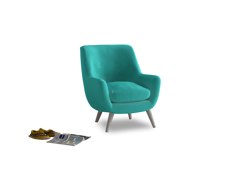 Berlin Armchair in Fiji Clever Velvet