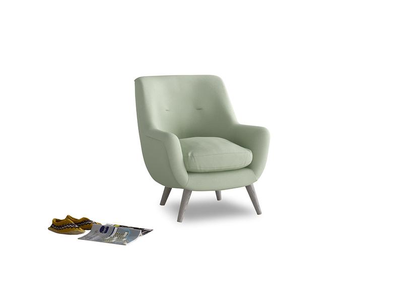 Berlin Armchair in Powder green Clever Linen