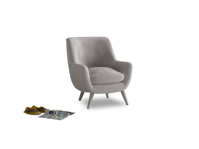 Berlin Armchair in Mouse grey Clever Deep Velvet