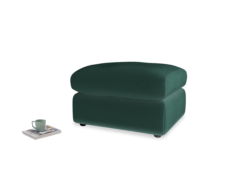 Chatnap Storage Footstool in Dark green Clever Velvet