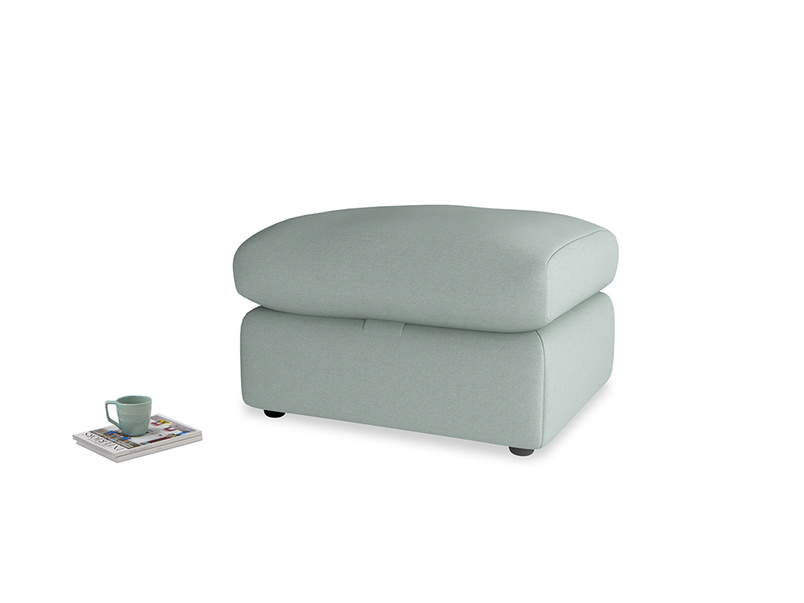 Chatnap Storage Footstool in Sea fog Clever Woolly Fabric