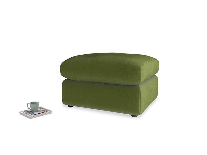 Chatnap Storage Footstool in Good green Clever Deep Velvet