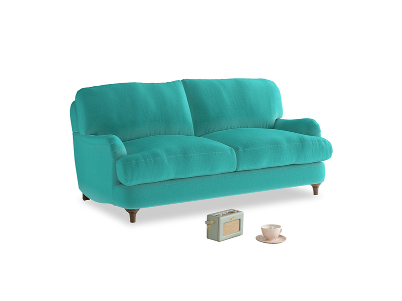 Small Jonesy Sofa in Fiji Clever Velvet