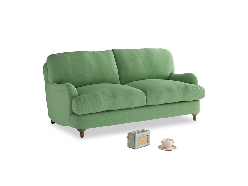 Small Jonesy Sofa in Clean green Brushed Cotton