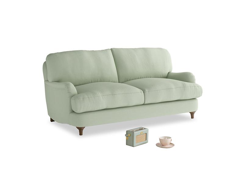 Small Jonesy Sofa in Powder green Clever Linen