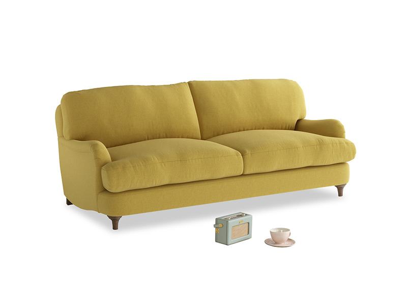 Medium Jonesy Sofa in Maize yellow Brushed Cotton