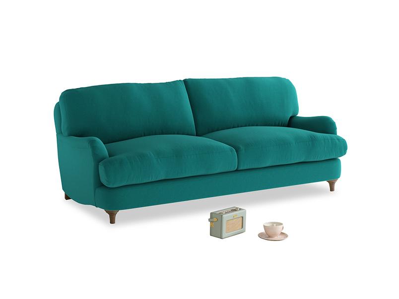 Medium Jonesy Sofa in Indian green Brushed Cotton