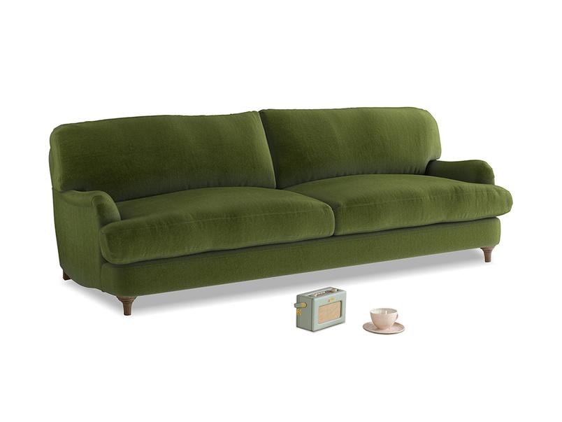 Large Jonesy Sofa in Good green Clever Deep Velvet