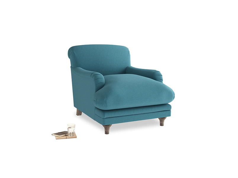 Pudding Armchair in Lido Brushed Cotton