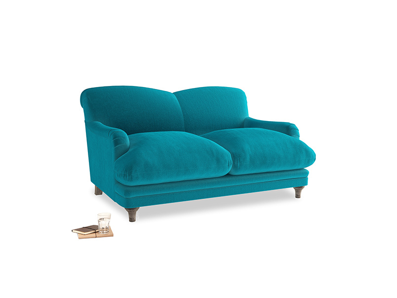 Small Pudding Sofa in Pacific Clever Velvet