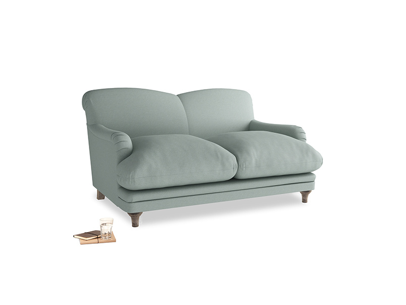 Small Pudding Sofa in Sea fog Clever Woolly Fabric