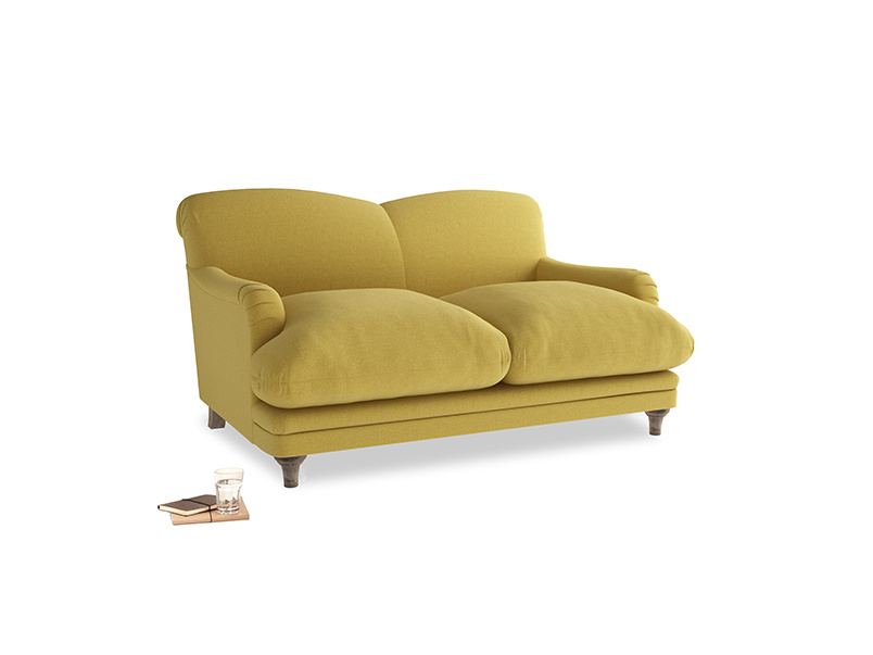 Small Pudding Sofa in Maize yellow Brushed Cotton
