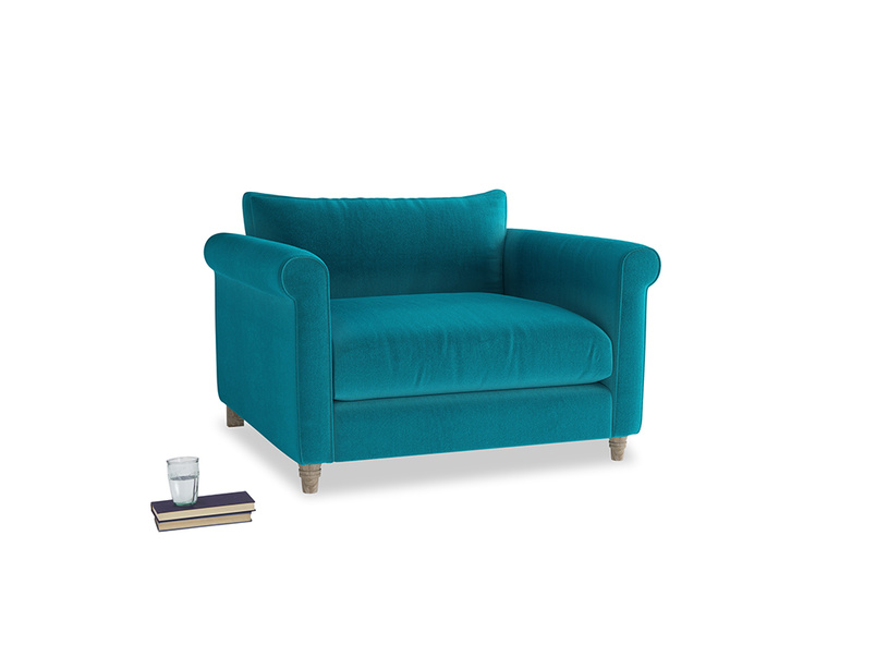 Weekender Love seat in Pacific Clever Velvet
