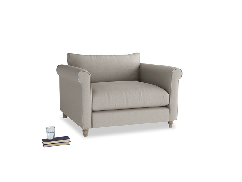 Weekender Love seat in Sailcloth grey Clever Woolly Fabric