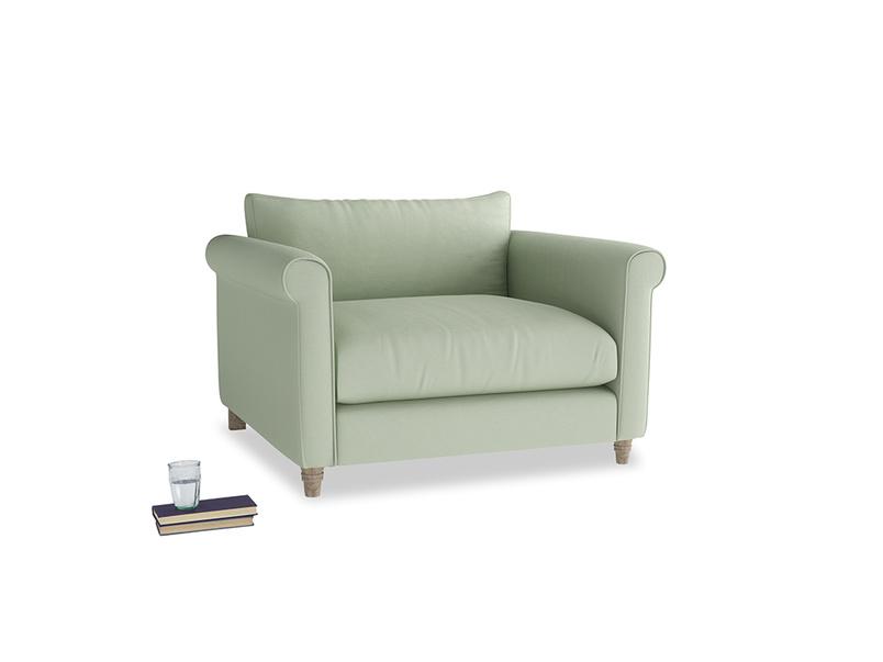 Weekender Love seat in Powder green Clever Linen