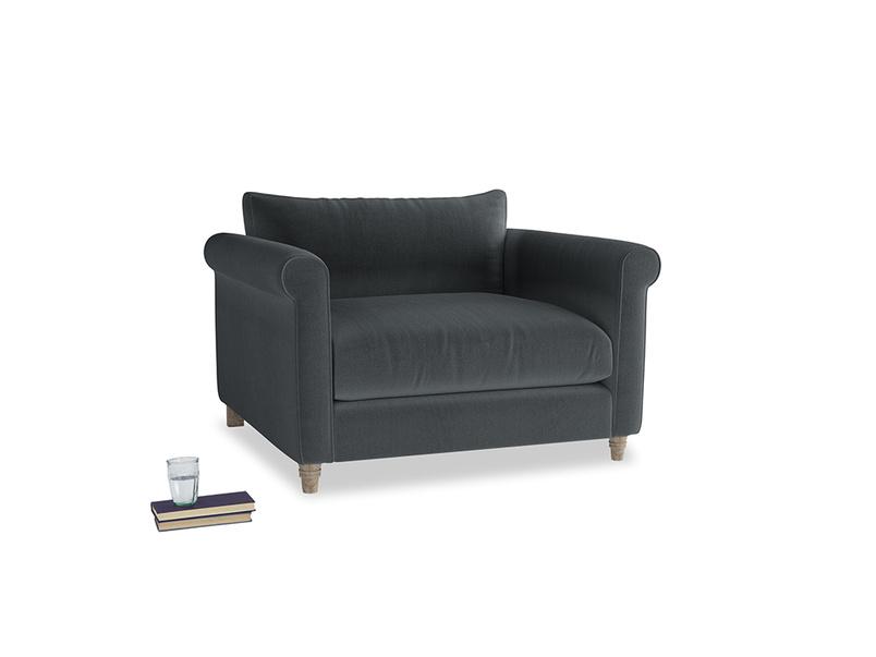 Weekender Love seat in Dark grey Clever Deep Velvet