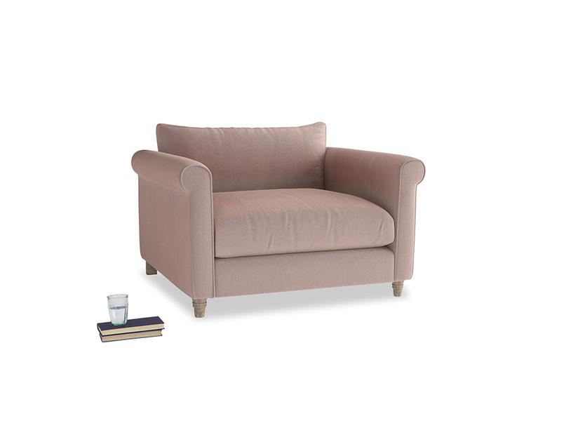 Weekender Love seat in Rose quartz Clever Deep Velvet