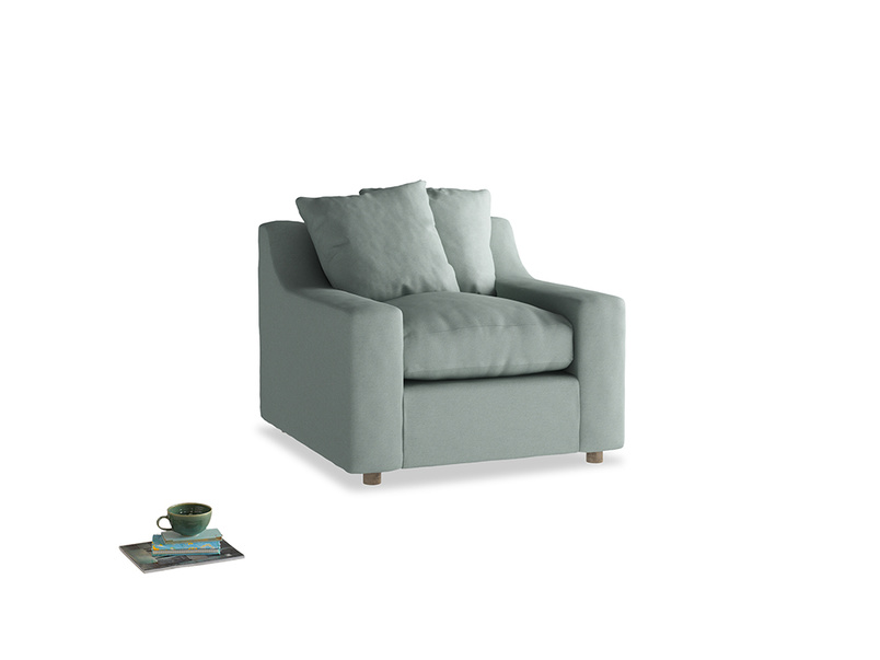 Cloud Armchair in Sea fog Clever Woolly Fabric