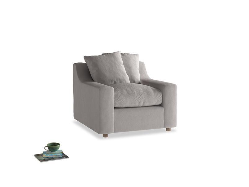 Cloud Armchair in Mouse grey Clever Deep Velvet
