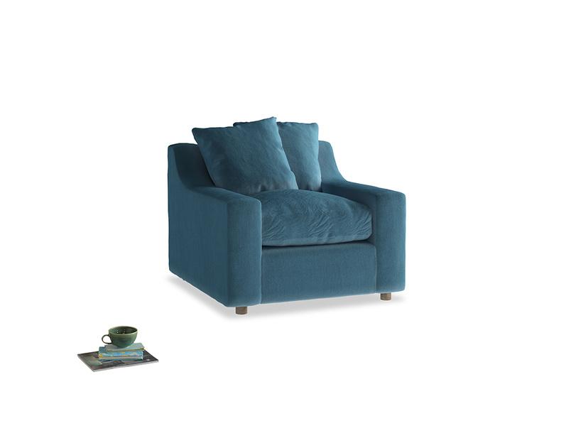 Cloud Armchair in Old blue Clever Deep Velvet
