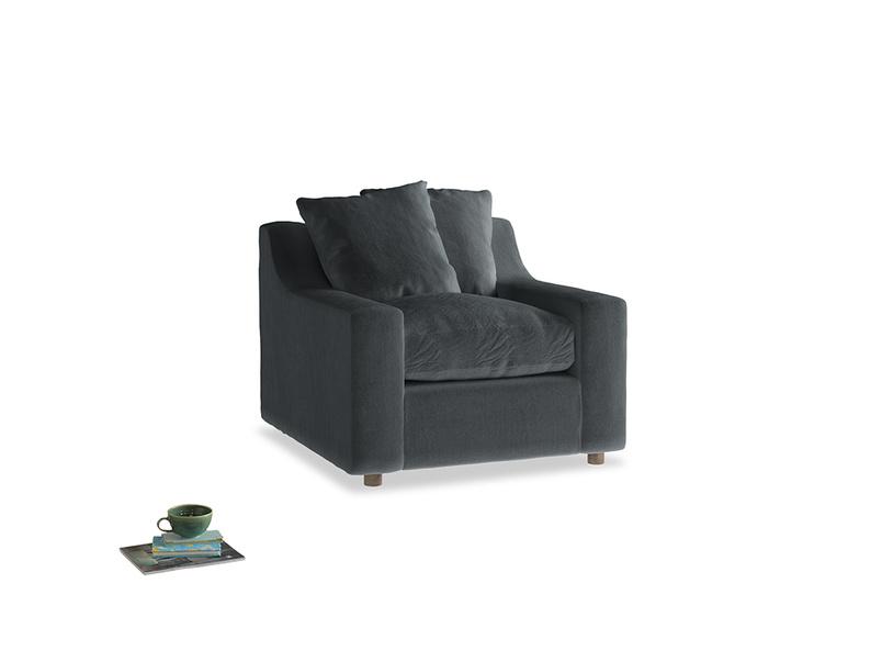 Cloud Armchair in Dark grey Clever Deep Velvet